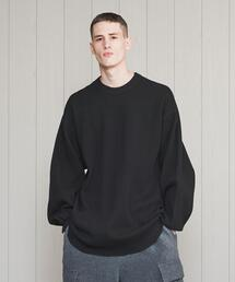 <H>HEAVY HONEYCOMB CREW NECK PULLOVER/カットソー