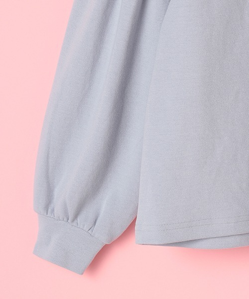 mezzo piano Junior(メゾピアノジュニア)の「ハートロケットペンダントつき肩レース開きTシャツ(Tシャツ/カットソー)」|詳細画像