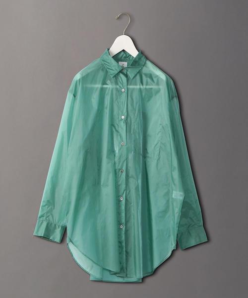 <6(ROKU)>NYLON BIG SUKE SHIRT/シャツ