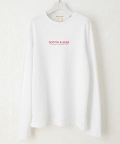 スコッチアンドソーダ SCOTCH & SODA / オーガニックコットン ロゴ長袖Tシャツ
