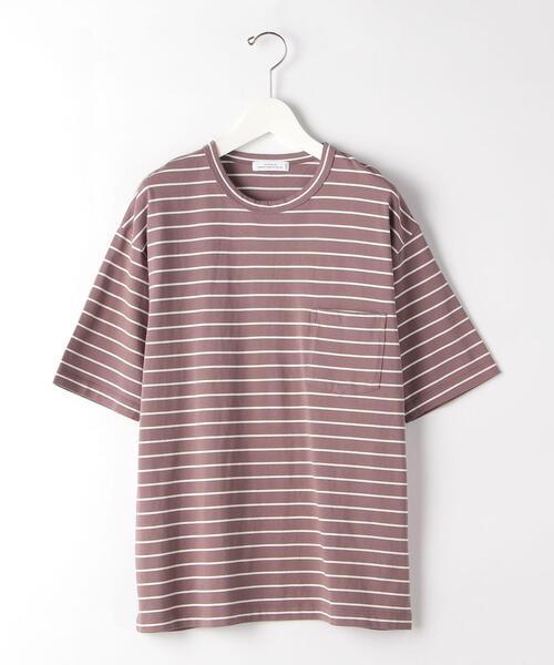 SC コンフィヤーン ボーダー クルーネック 半袖 カットソー Tシャツ