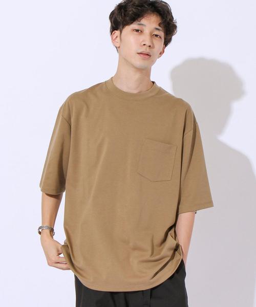 ポンチビックシルエットポケットTシャツ