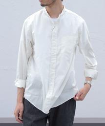 GYMPHLEX/ジムフレックス ブロードスタンドシャツ T/C BROAD SHIRT J-1352アイボリー