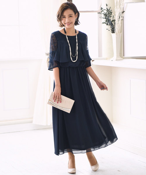 4bf9b83b9c142 kana(カナ)のレースフレアスリーブロングドレス(ドレス)