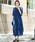 kana(カナ)の「レースフレアスリーブロングドレス / 結婚式ワンピース・お呼ばれパーティードレス(ドレス)」|ロイヤルブルー