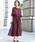 kana(カナ)の「レースフレアスリーブロングドレス / 結婚式ワンピース・お呼ばれパーティードレス(ドレス)」|ボルドー