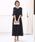 kana(カナ)の「レースフレアスリーブロングドレス / 結婚式ワンピース・お呼ばれパーティードレス(ドレス)」|ブラック