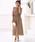 kana(カナ)の「レースフレアスリーブロングドレス / 結婚式ワンピース・お呼ばれパーティードレス(ドレス)」|モカ