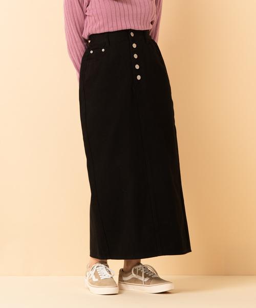 ボタンフライナロースカート