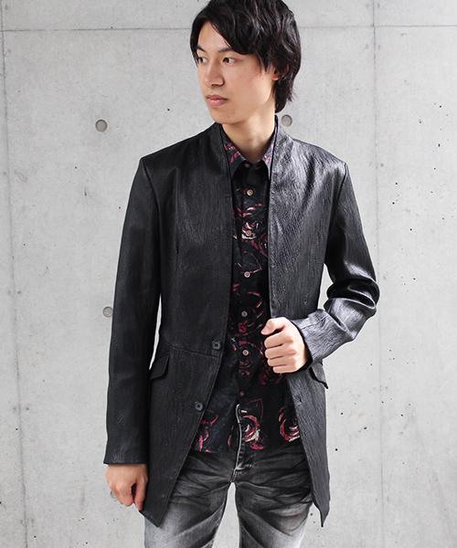 高価値セリー TORNADO MART∴エンボススーパーストレッチノーカラーコート(ライダースジャケット)|TORNADO TORNADO MART(トルネードマート)のファッション通販, 京はやしや:1d57e588 --- gnadenfels.de