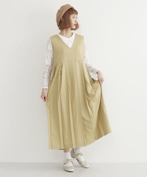 プリーツジャンパースカート2543