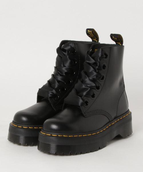 Dr.Martens(ドクターマーチン)の「Dr.Martens/ドクターマーチン/QUAD RETRO MOLLY 6ホールブーツ(ブーツ)」 ブラック
