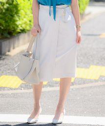 TONAL(トーナル)のストレッチツイルアシメタイトスカート(スカート)