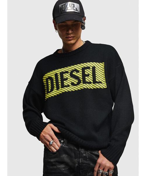 人気TOP メンズ DIESEL ロゴデザインインターシャ ニット(ニット/セーター) DIESEL(ディーゼル)のファッション通販, こだわりのブランド Sentire-One:5b8fc4ef --- 5613dcaibao.eu.org