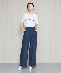 <H>DENIM WEST PANTS/パンツ
