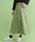merlot(メルロー)の「フロントボタンタックプリーツスカート2598(スカート)」|グリーン