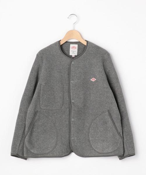 【DANTON】フリース ノーカラージャケット WOMEN