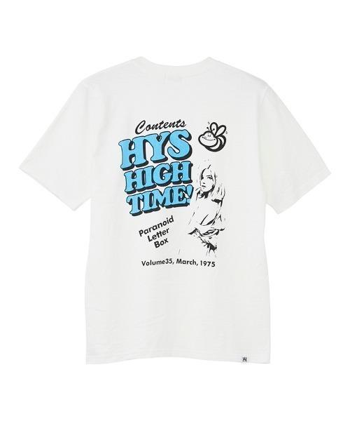 PARANOID LETTER BOX ポケット付きTシャツ