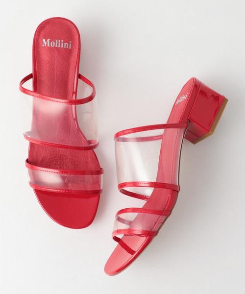 <Mollini>エナメルクリアミュール ◆