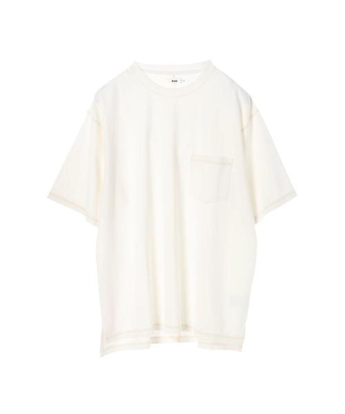 ポンチ3本針ステッチピグメントTシャツ