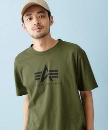 Alpha Industries/アルファインダストリーズ A-MARK PRINT T SHIRT 半袖ロゴTシャツグリーン系その他