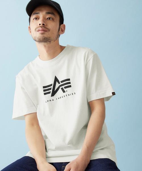 Alpha Industries/アルファインダストリーズ A-MARK PRINT T SHIRT 半袖ロゴTシャツ