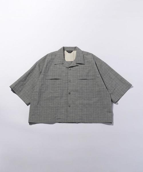 <UNUSED>GLEN CHECK SHORT SLEEVE SHIRT/シャツ.