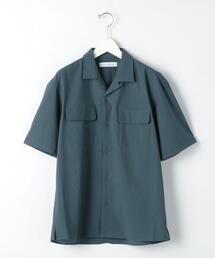 ドットエアー サッカー オープンカラー 半袖 シャツ < 機能性 / 吸水速乾 ・ 伸縮性 >