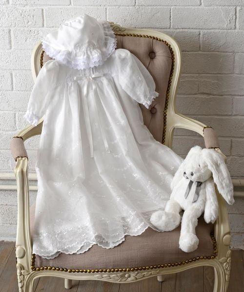 印象のデザイン [ベビー・帽子付き・専用ケース]コットンレース「セレモニードレス」(ベビーギフト)|hakka baby(ハッカベビー)のファッション通販, style ドレスショップ:0d6fe500 --- pyme.pe