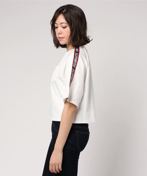 WEGO/テープロゴポケットTシャツ