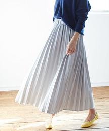 ViS(ビス)の【WEB限定】カットデニムプリーツスカート(スカート)