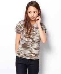 AVIREX(アヴィレックス)のavirex/アヴィレックス/SS CAMO FATIGUE TEE/半袖迷彩カモフラージュファティーグTシャツ (Tシャツ/カットソー)