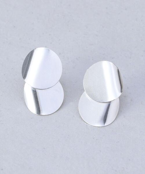 <ANNIKA INEZ>E853 DOUBLE FOIL SILVER EARRINGS/ピアス.