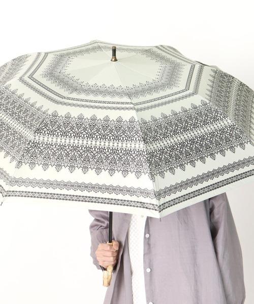 晴雨兼用傘 C/Cレース柄プリントショートワイド 27390