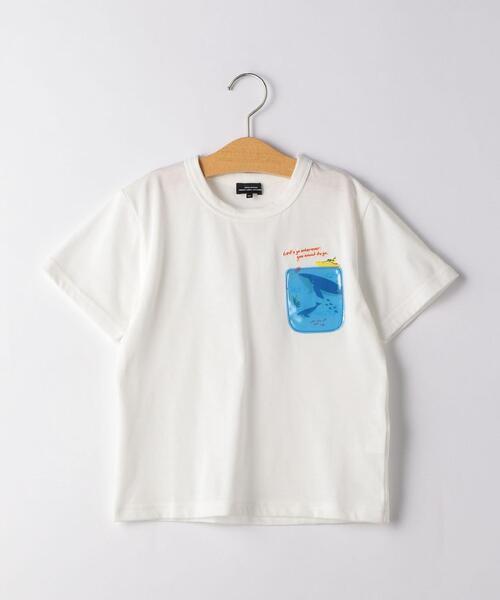 〔吸水速乾〕クジラポケット Tシャツ