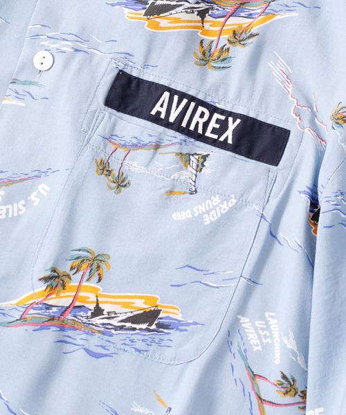 AVIREX(アヴィレックス)の「AVIREX アヴィレックス S/S ALOHA SH 'U.S.S. AVIREX' アロハ アヴィレックス シャツ 6105119(シャツ/ブラウス)」 詳細画像