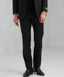 [ レダ ] REDA サージ 無地 スリム ノープリーツ セットアップ スーツ スラックス