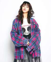 SKULL PANDA刺繍 ビッグシャツ