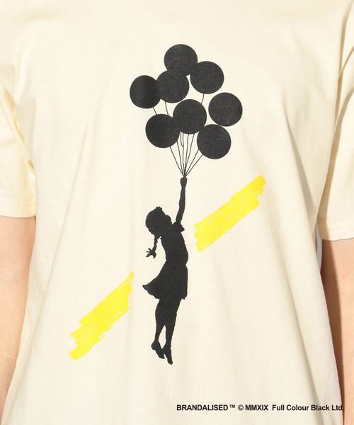 プリントTシャツ『Banksy&Jerusalem Balloon Girl+design』