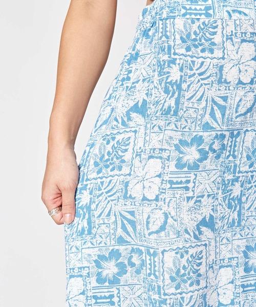 Kahiko(カヒコ)の「【Kahiko】ハワイアンプリントサッシュスカート(スカート)」|詳細画像