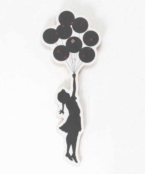 Sync.【BRANDALISM】 WALL CLOCK 'FLYING BALLOONS GIRL' 2nd made by KARIMOKU