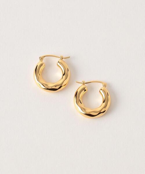 <Preek>YU-KIN TWIST HOOP EARRINGS SMALL GOLD PLATED/ピアス