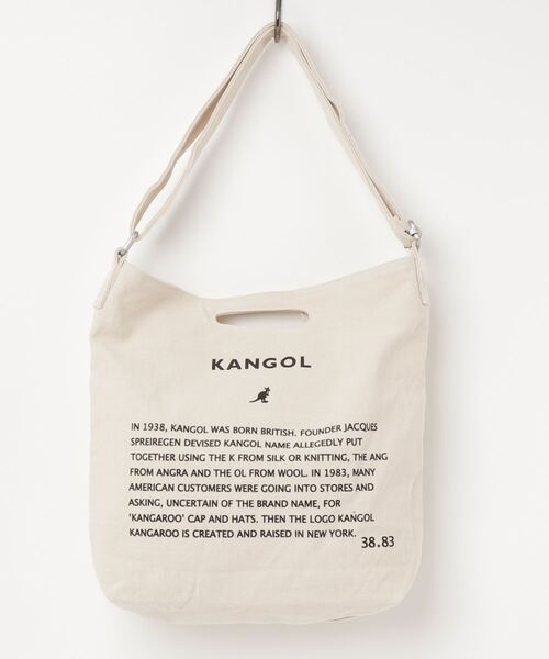 【KANGOL/カンゴール】 キャンバス プリント サコッシュ