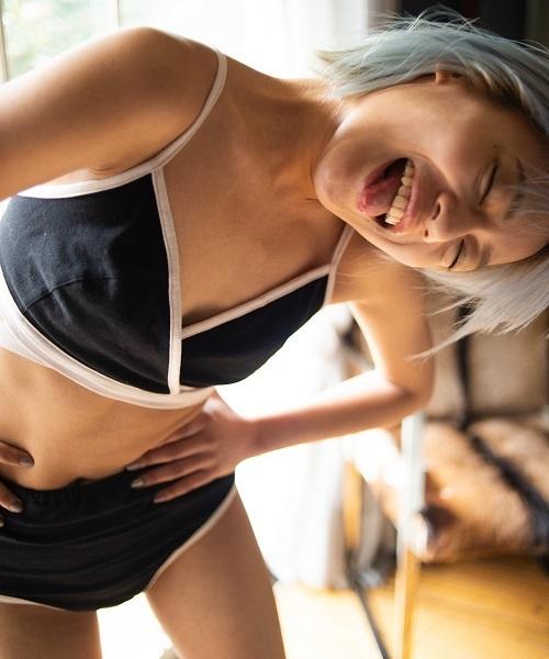 【花盛友里コラボ】ラップリボンブラレット ブラショーツセット