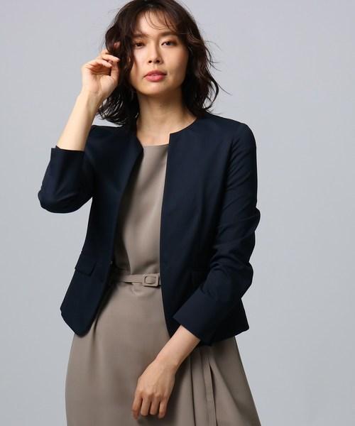 【在庫処分】 【洗える】サマーカラーレスジャケット, 朝霞市 e7ecc135