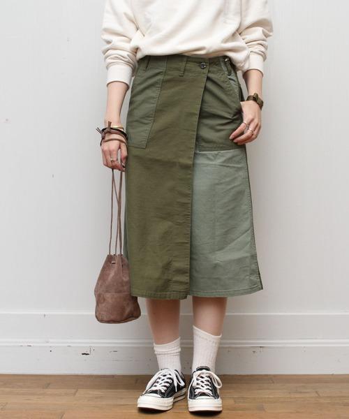 D.M.G. / ディーエムジー ベーカー巻きスカート 17-422T