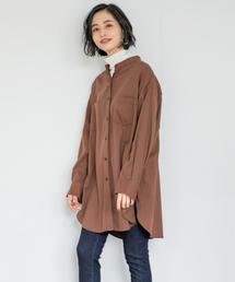 LOWRYS FARM(ローリーズファーム)のバンドカラーチュニックシャツ 855630(シャツ/ブラウス)