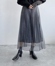 JEANASIS(ジーナシス)のシアーシャイニープリーツスカート/876109(スカート)
