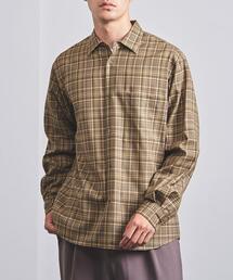 <UNITED ARROWS> チェック レギュラーカラーシャツ✝