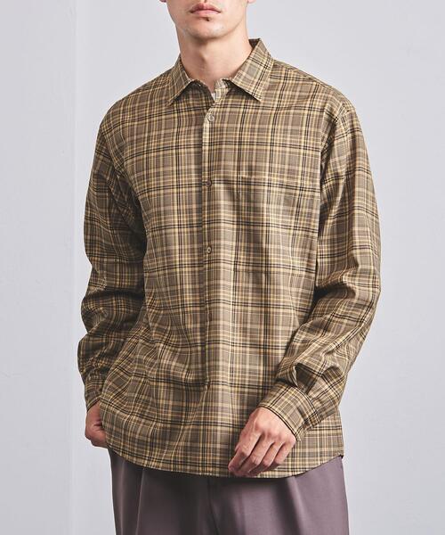 <UNITED ARROWS> チェック レギュラーカラーシャツ
